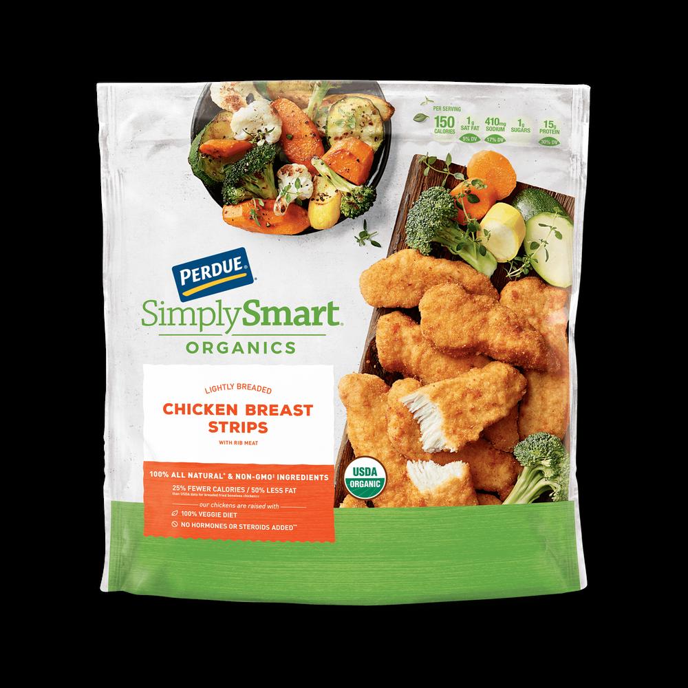 Perdue SimplySmart Organics Lightly Breaded Chicken Strips image number 0