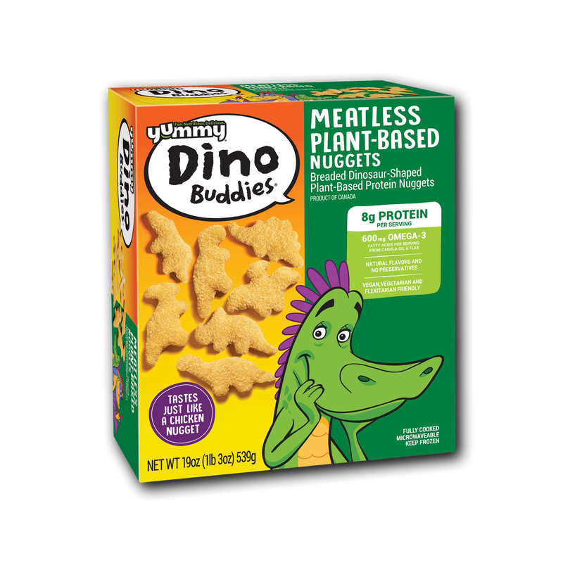 Yummy Dino Buddies Meatless Plant-Based Dinosaur-Shaped Protein Nuggets image number 3