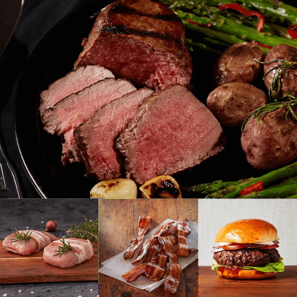 Premium Steak, Sausage and Burgers Gift Bundle image number 1