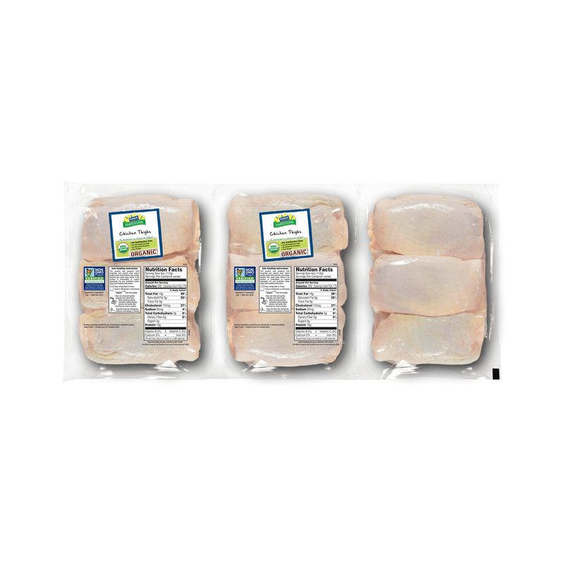 Perdue Harvestland Organic Bone-In Chicken Thighs Pack image number 0