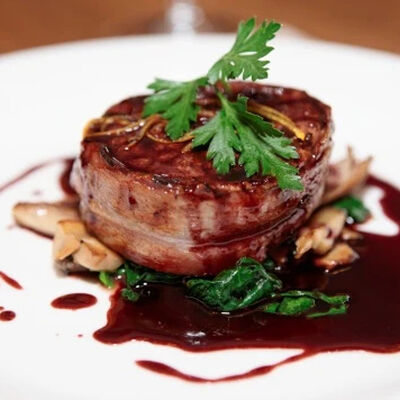 Pan-Seared Filet Mignon with Brandy Sauce