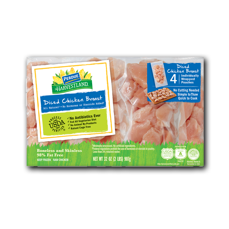 Perdue Harvestland Diced Chicken Breasts image number 1