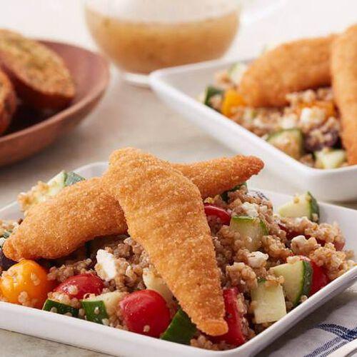 Greek Quinoa Salad With Chicken Tenders