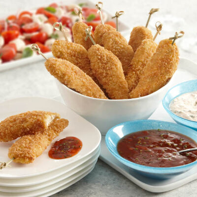 Chicken Tenders With Two Dipping Sauces