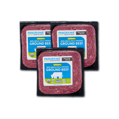 Panorama Organic Grass-Fed Ground Beef Bundle