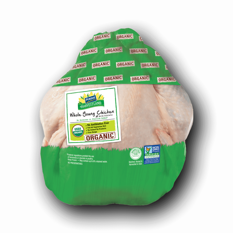 Perdue Harvestland Organic Whole Chicken With Giblets and Necks image number 1
