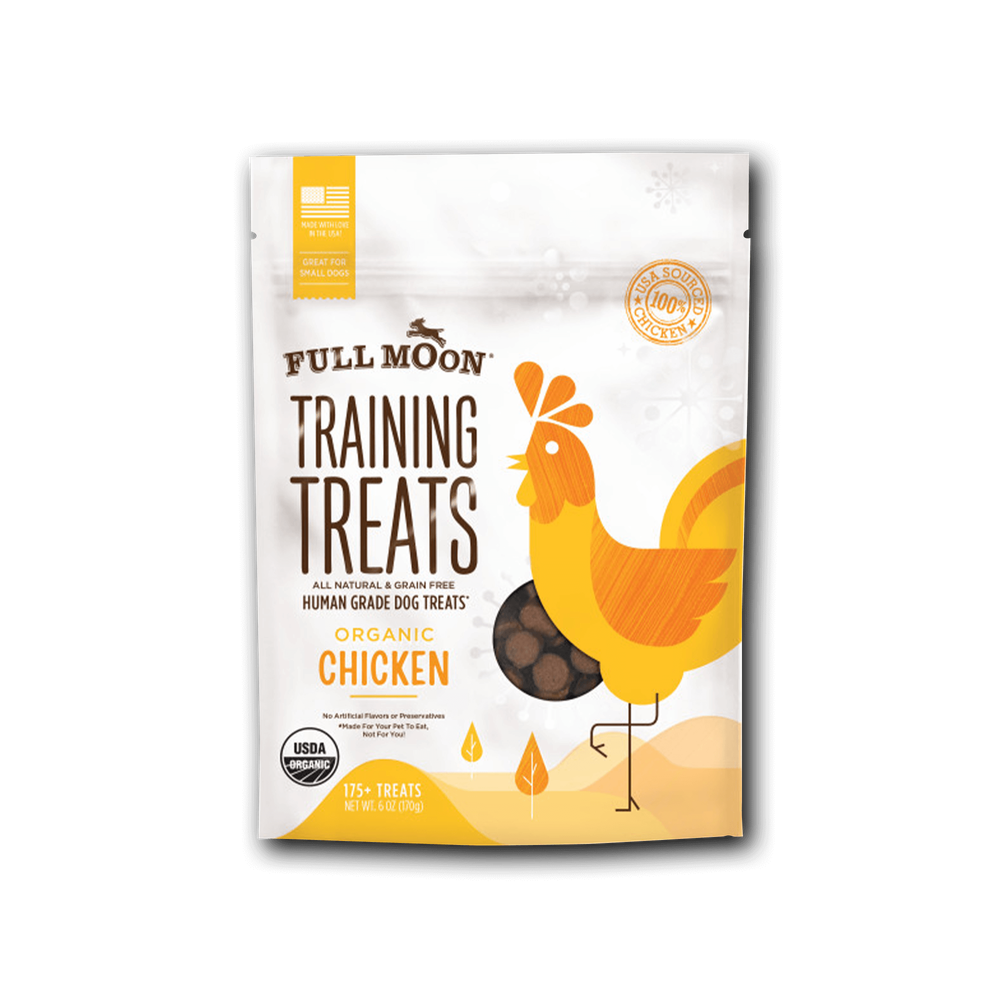 Full Moon Organic Chicken Training Treats For Dogs image number 0