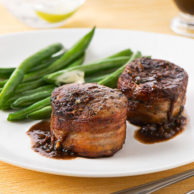 Bacon-Wrapped Pork Medallions