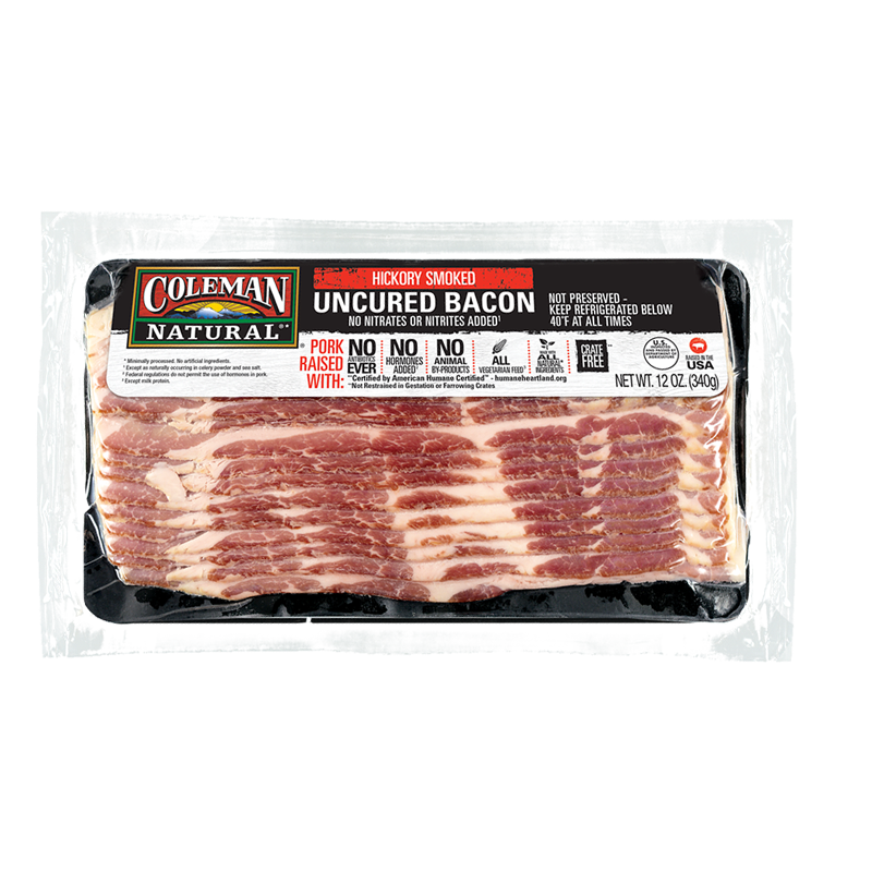 Coleman Natural Uncured Hickory Smoked Bacon image number 0