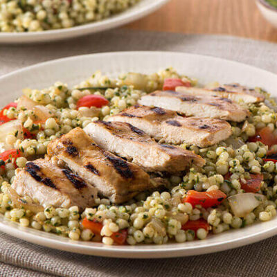 Grilled Chicken and Veggie Pesto Couscous