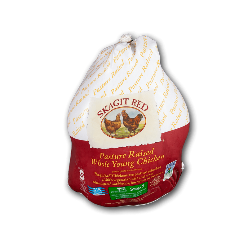Skagit Red Air-Chilled Whole Chicken With Giblets image number 0