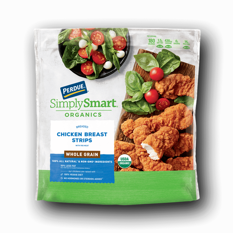 Perdue SimplySmart Organics Whole Grain Chicken Breast Strips image number 0