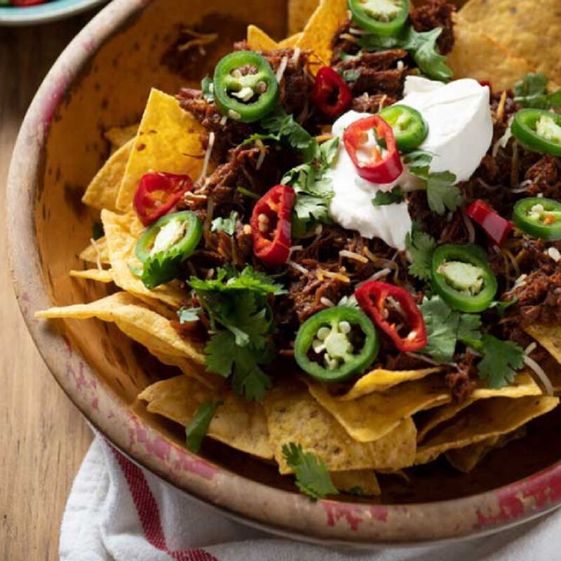 Easy Nachos with Shredded Beef image number 0