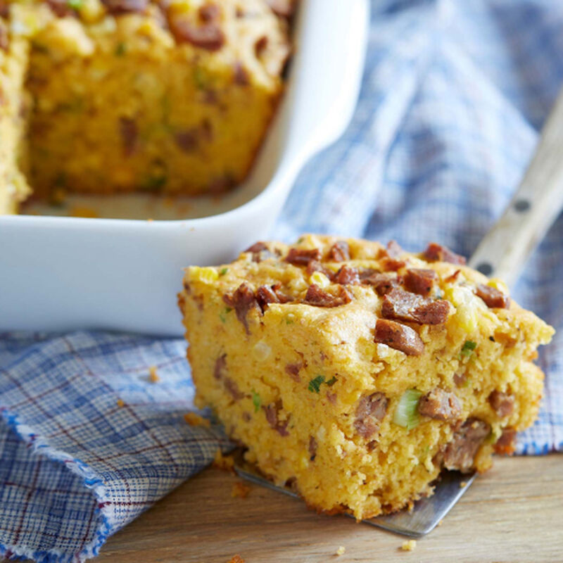 Spicy Smoked Sausage Cornbread image number 0