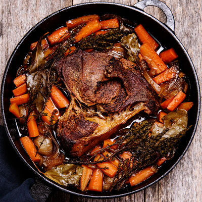 Fennel and Shallot Braised Beef Brisket