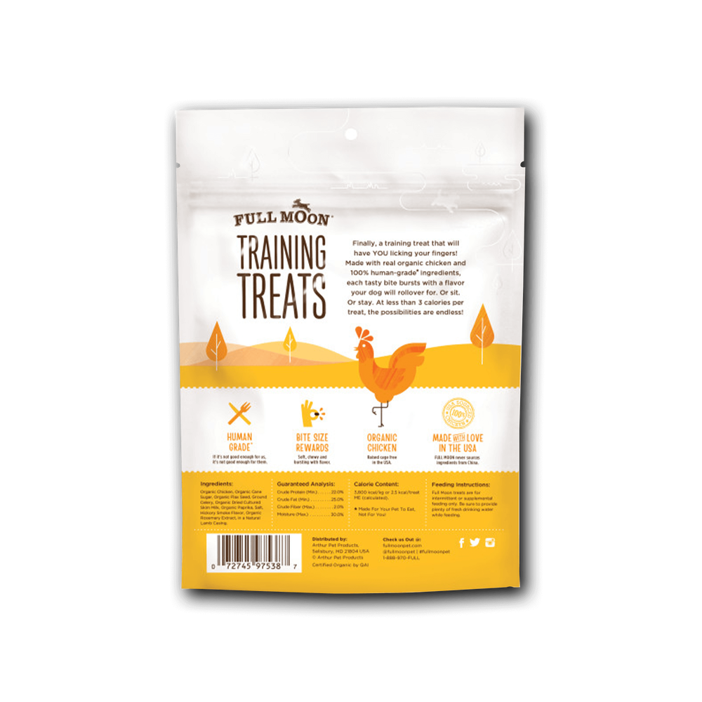 Full Moon Organic Chicken Training Treats For Dogs image number 1