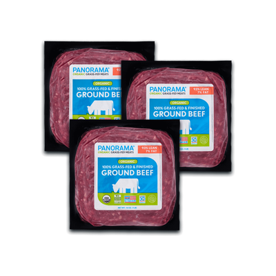 Panorama Organic Grass-Fed 93/7 Ground Beef Bundle