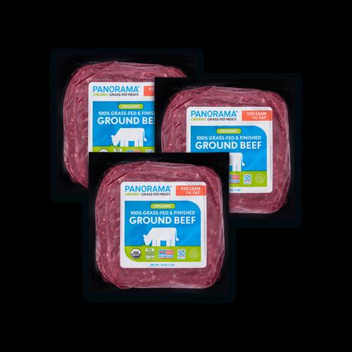 Panorama Organic Grass-Fed 93/7 Ground Beef Bundle