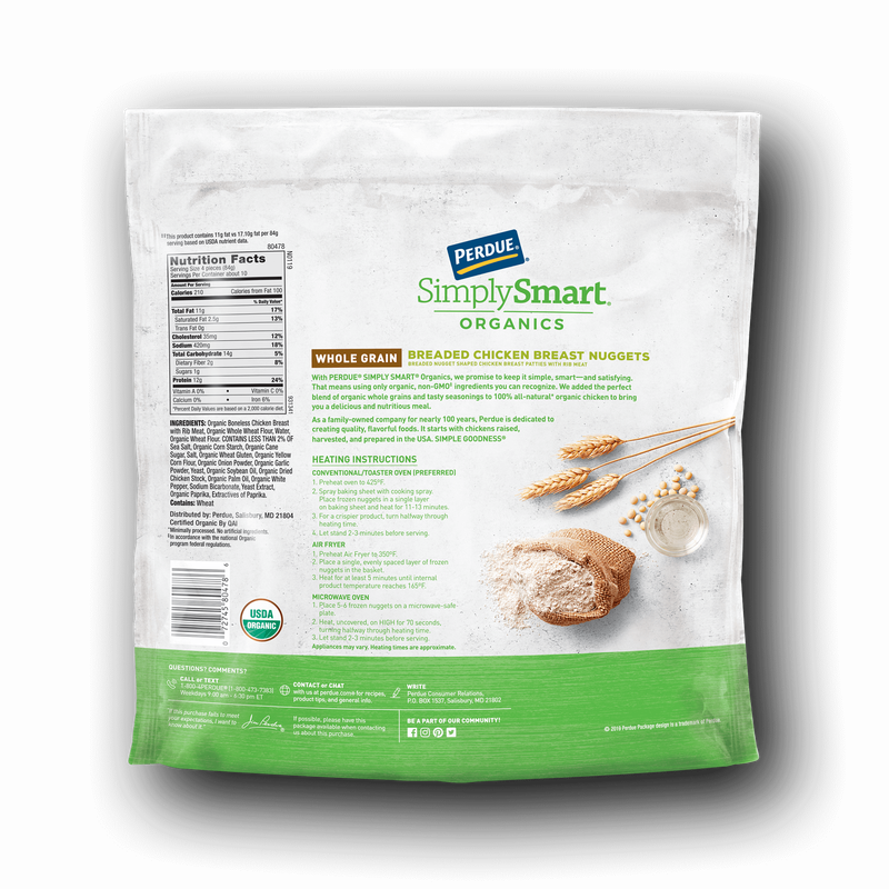 Perdue SimplySmart Organics Whole Grain Chicken Breast Nuggets image number 2