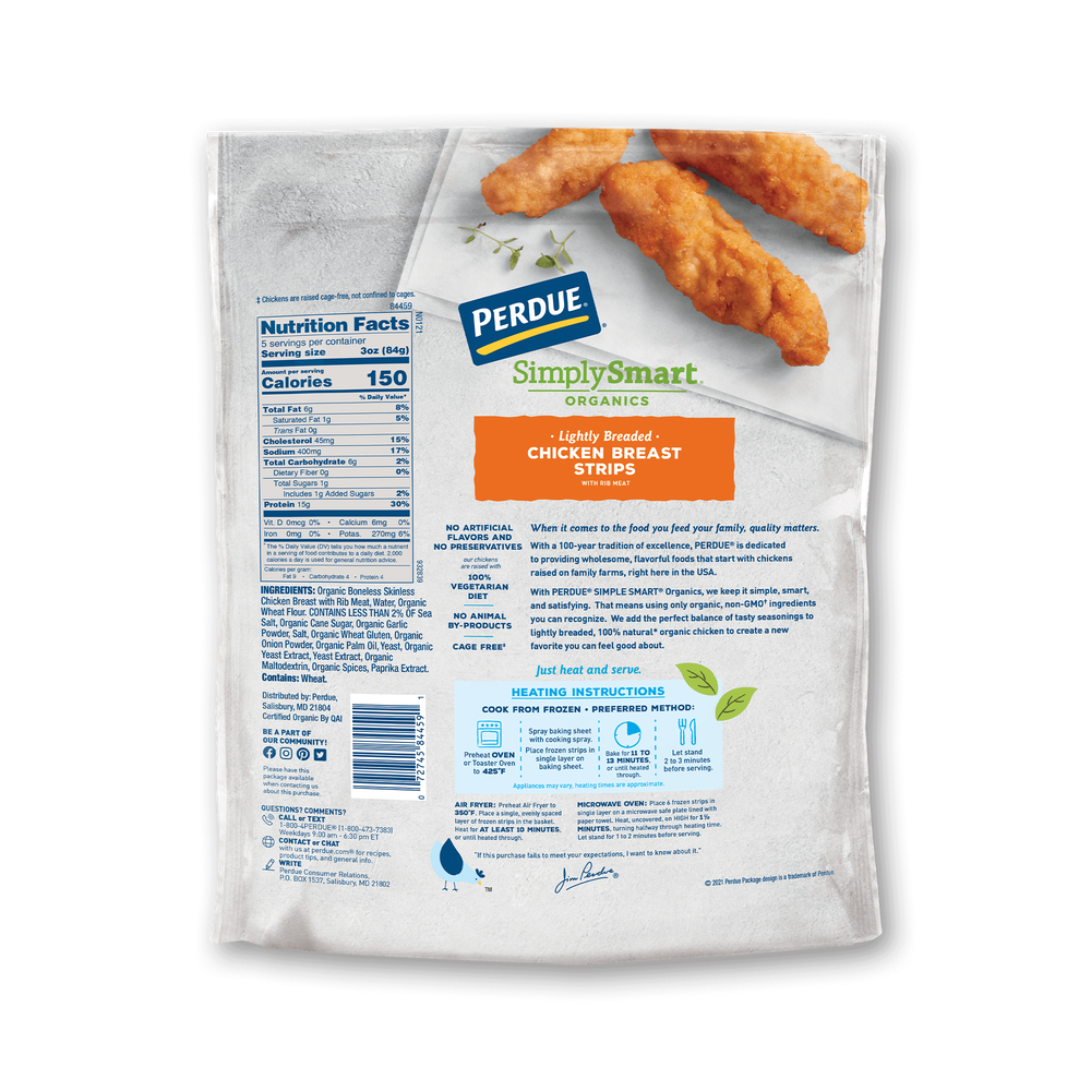 Perdue SimplySmart Organics Lightly Breaded Chicken Strips image number 1