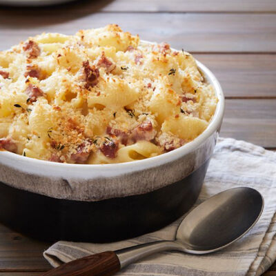 Smoked Gouda and Sausage-Infused Mac and Cheese