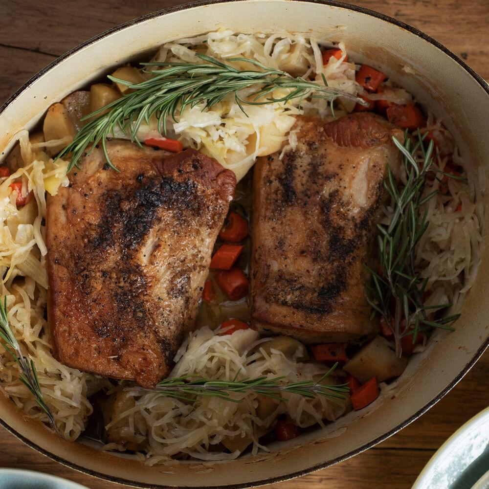 Pork Roast and Sauerkraut, Two Ways image number 0