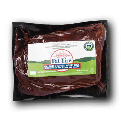 Niman Ranch Fat Tire St. Louis Style Pork Ribs with Amber Ale Barbecue Sauce
