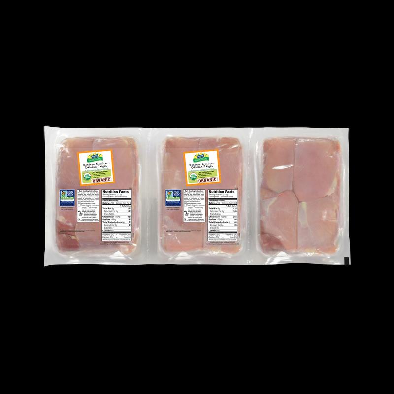 Perdue Harvestland Organic Boneless Skinless Chicken Thighs Pack image number 0