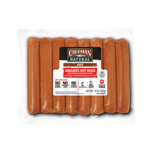 Coleman Natural Uncured Beef Hot Dogs