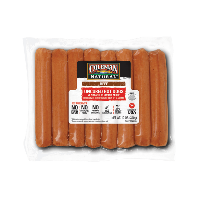 Coleman Natural Uncured Beef Hot Dogs image number 0