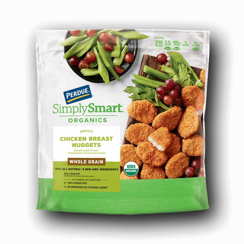 Perdue SimplySmart Organics Whole Grain Chicken Breast Nuggets image number 0