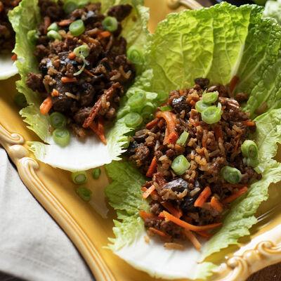 Asian-Style Pork-Stuffed Cabbage Rolls