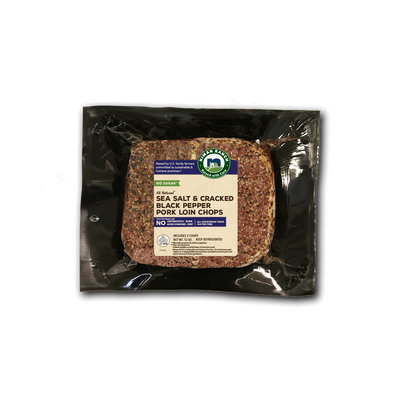 Niman Ranch Sea Salt and Cracked Black Pepper Pork Loin Chop