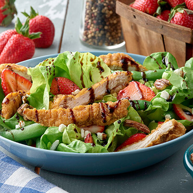 Bibb Lettuce Salad with Chicken Strips and Strawberries image number 0