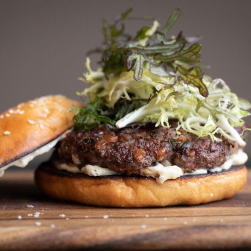 Asian Pork and Mushroom Burgers image number 0