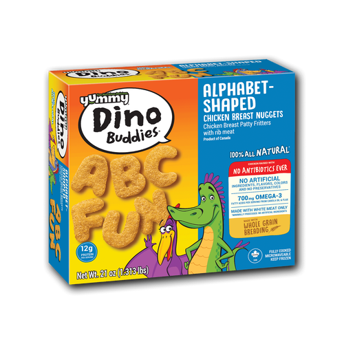 Yummy Dino Buddies Alphabet-Shaped Chicken Breast Nuggets