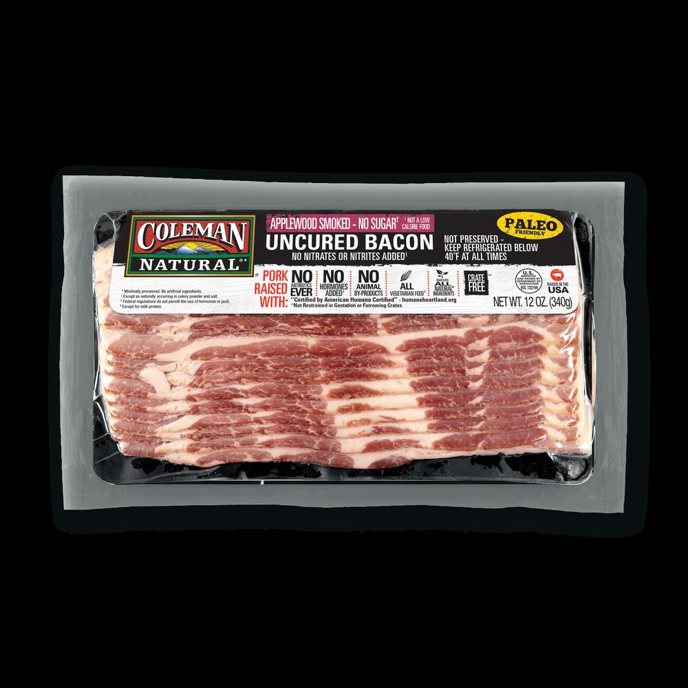 Coleman Natural No-Sugar Applewood-Smoked Bacon image number 0