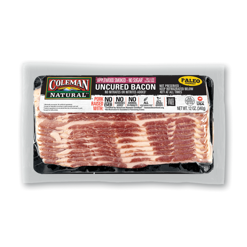 Coleman Natural No-Sugar Applewood-Smoked Bacon image number 0