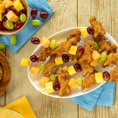 Chicken and Fruit Kabobs for Kids