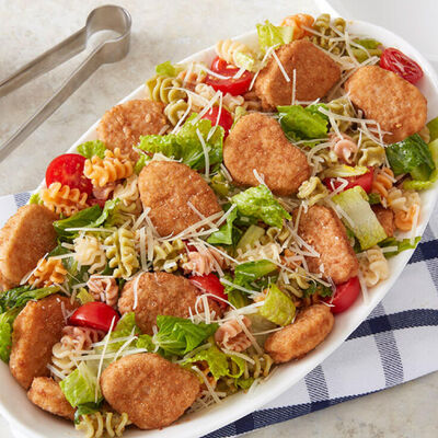 Chicken Nugget Pasta Salad