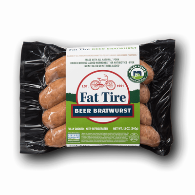 Niman Ranch Fat Tire Beer Brats