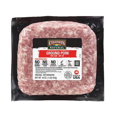 Coleman Natural Ground Pork