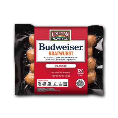 Budweiser® BBQ Beer Bratwurst by Coleman Natural Foods