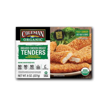Coleman Natural Foods Organic Breaded Chicken Breast Tenders