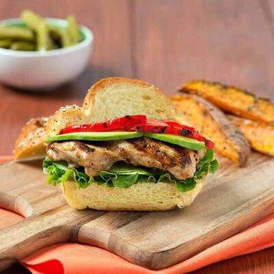 Asian-Lime Grilled Chicken Sandwich