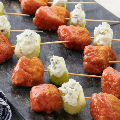 Boneless Hot Wyngz and Blue Cheese Bites