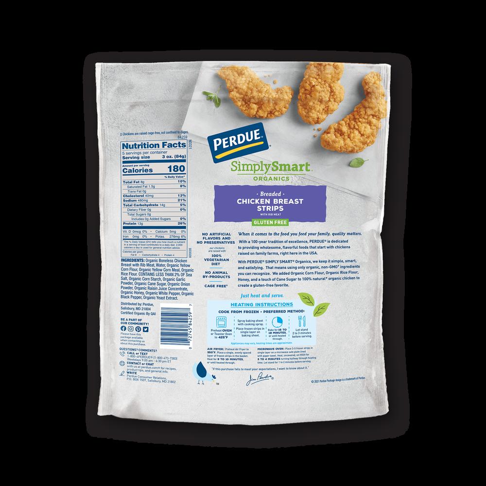Perdue SimplySmart Organics Gluten Free Breaded Chicken Strips image number 1