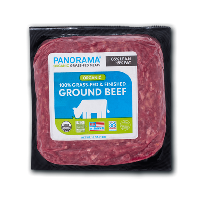 Panorama Organic Grass-Fed 85/15 Ground Beef