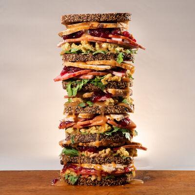 Thanksgiving Leftover Sandwich