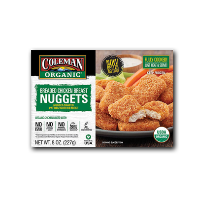 Coleman Natural Foods Organic Breaded Chicken Breast Nuggets